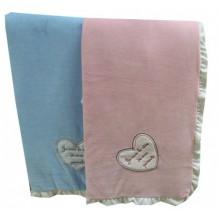 Couette bébé personnalisée rose et bleue