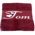Coffret serviettes de bain personnalisées Bordeaux