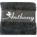 Coffret serviettes de bain personnalisées Gris