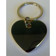 Porte clés gravé coeur