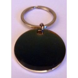 Porte clés gravé rond