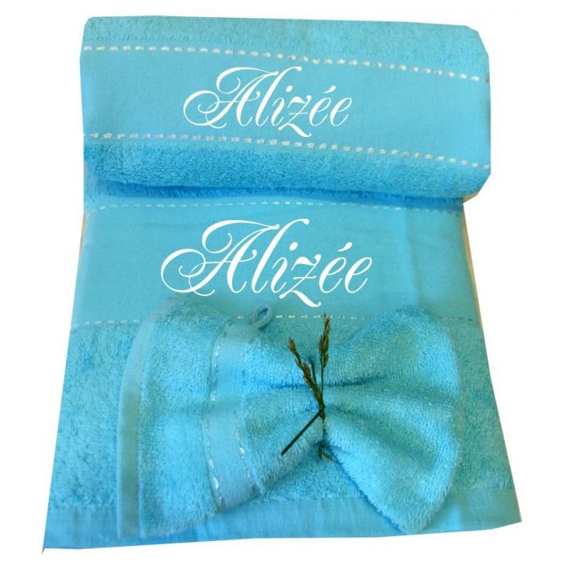 coffret drap de bain serviette personnalis s petit cadeau pas cher. Black Bedroom Furniture Sets. Home Design Ideas