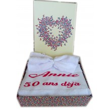 coffret serviette de toilette personnalisée plus gant