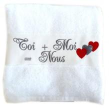 La serviette de bain personnalisée