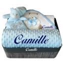 Corbeille cadeau naissance personnalisé