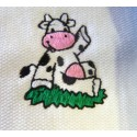 La serviette de bain bébé personnalisée vache