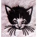 La serviette de bain bébé personnalisée chat