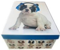Boite chien écouteurs